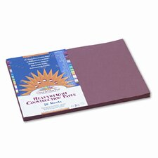 SunWorks Construction Paper, Heavyweight, 12 x 18, Brown, 50 Sheets (Set of 2)