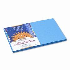 SunWorks Construction Paper, Heavyweight, 12 x 18, 50 Sheets, Blue (Set of 2)