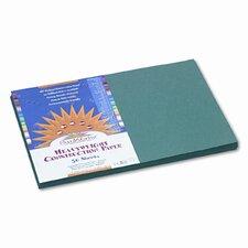 SunWorks Construction Paper, Heavyweight, 12 x 18, Dark Green, 50 Sheets (Set of 2)