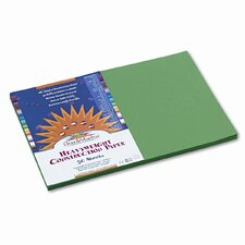 SunWorks Construction Paper, Heavyweight, 12 x 18, Holiday Green, 50 Sheets (Set of 2)