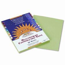SunWorks Construction Paper, Heavyweight, 9 x 12, Light Green, 50 Sheets (Set of 4)