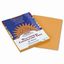 SunWorks Construction Paper, Heavyweight, 9 x 12, Yellow, 50 Sheets (Set of 4)