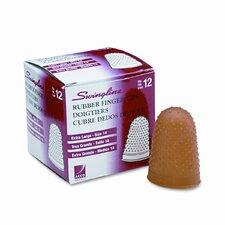 Large Rubber Finger Tips, Size 14, X-Large, 1/Dozen (Set of 3)