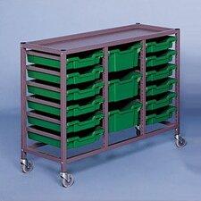 "Triple Column Mobile 33.5"" Storage Cart"