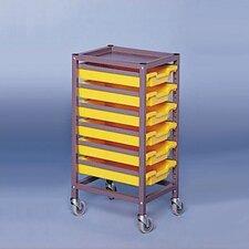 "Single Column Mobile 35.5"" Storage Cart"
