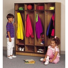 1 Tier 4-Section Double Sided Student Locker