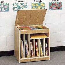 Mobile Big Book Storage Rack