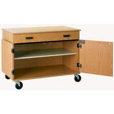 Encore Rolling Cabinet with Drawer and 2 Shelves