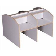 Double Sided Privacy Study Carrel Desk Starter