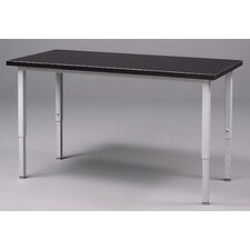 Adjustable Height Steel Frame Science Table with Black HPL Top