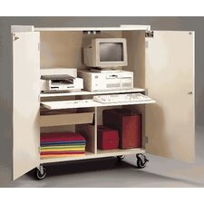 Mobile Computer Workstation Cabinet