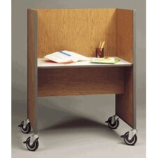 Library Mobile Wood and Steel Study Carrel
