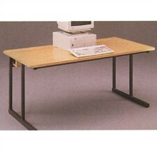 C-Leg Wide Training Table with Flip Top Wire Management