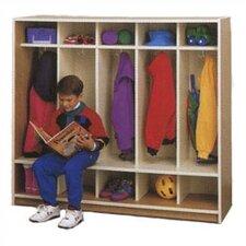 1 Tier 5-Section Cubbie Children's Locker