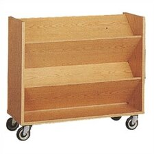 Library Double-Sided Book Cart