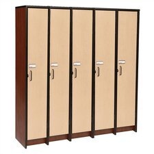 1 Tier 5 Wide Contemporary Locker