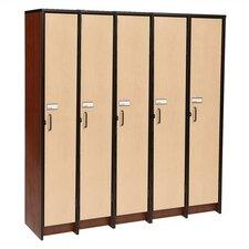 1 Tier 5 Wide Contemporary Locker