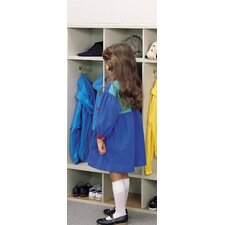1 Tier 4-Section Children's Coat Locker