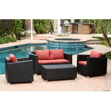 Hampton 4 Piece Deep Seating Group with Cushions