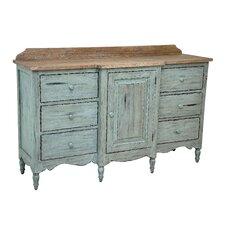 English 6 Drawer Combo Dresser
