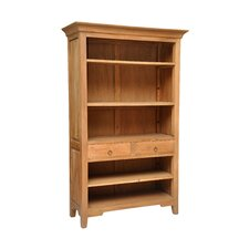 "2 Drawer 77"" Standard Bookcase"