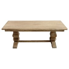 Santa Fe Balustrade Dining Table with a Solid Top, 7 ft