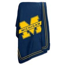 NCAA University of Michigan Classic Fleece Throw