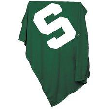 NCAA Michigan State Sweatshirt Blanket