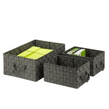 3 Piece Woven Basket Set