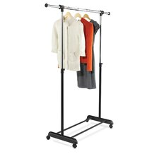 Expandable Garment Rack in Black and Chrome