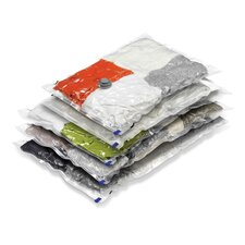 5 Piece Combo Vacuum Pack Closet Storage Bag Set