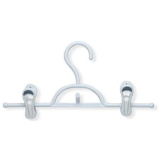 Soft Touch Skirt and Pant Hanger with Clips in White/Blue(12 Pack) (Set of 2)