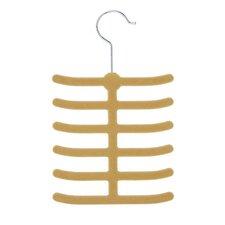 Twelve Hook Tie Hanger in Tan and Camel (20 Pack)
