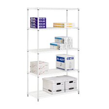"Adjustable Storage 72"" H 5 Shelf Shelving Unit"