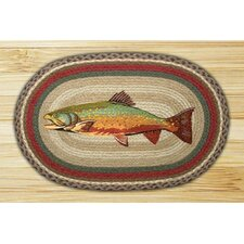 Trout Printed Area Rug