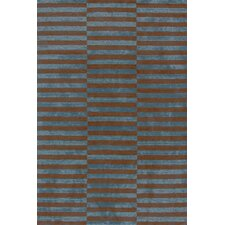 Marled Ladder Blue/Brown Graphic Area Rug