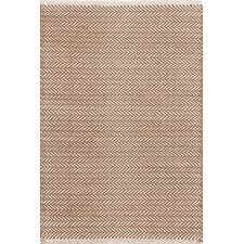 Herringbone Chocolate Geometric Area Rug