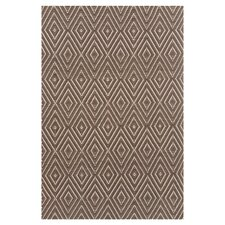 Woven Brown Diamond Indoor/Outdoor Area Rug