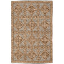 Alpine Diamond Wool Woven Brown/Slate Area Rug