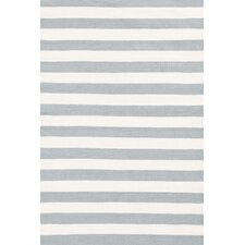 Trimaran Stripe Light Blue & Ivory Indoor/Outdoor Area Rug