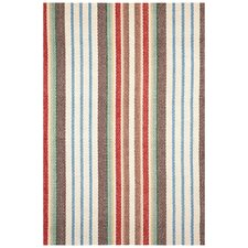 Woven Ranch Stripe Area Rug