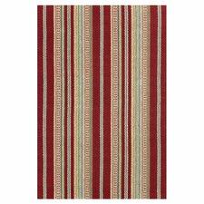 Woven Saranac Red Area Rug