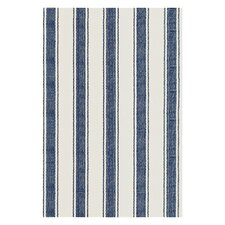Woven Awning Blue/White Stripe Area Rug