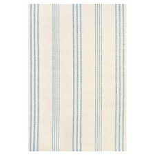 Woven Swedish Blue & Ivory Stripe Area Rug