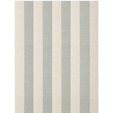 Woven Ocean/Cream Yacht Stripe Area Rug