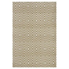 Woven Khaki Diamond Indoor/Outdoor Area Rug