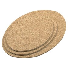 3 Piece Oval Cork Trivet Set