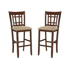 "Mission Casual 30"" Lattice Back Bar Stool"