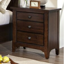 Jackson 3 Drawer Nightstand