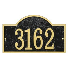 Fast and Easy Arch House Numbers Plaque